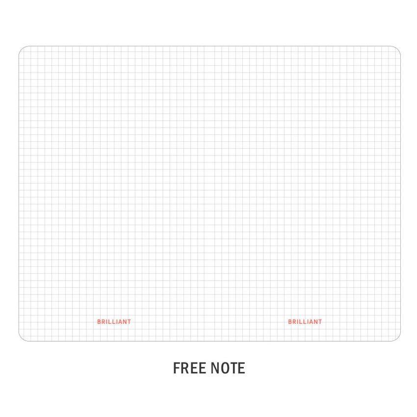 Free note - ICONIC 2021 Brilliant dated daily diary planner