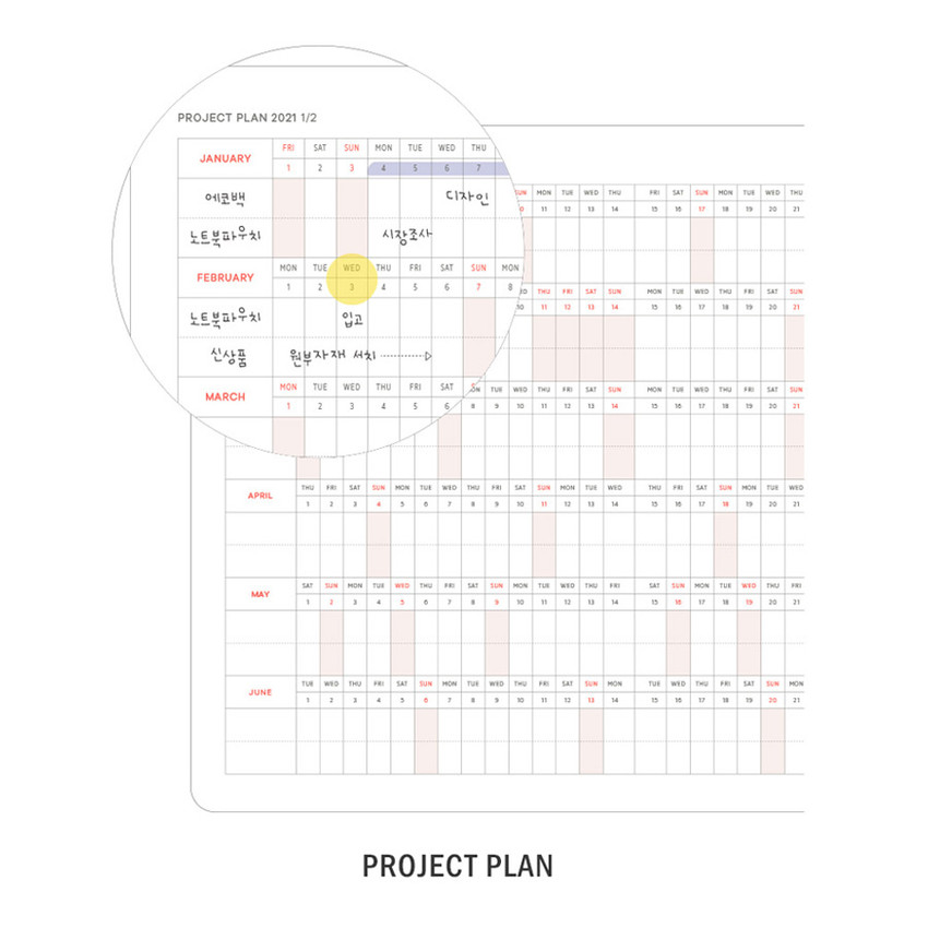Project plan - ICONIC 2021 Brilliant dated daily diary planner