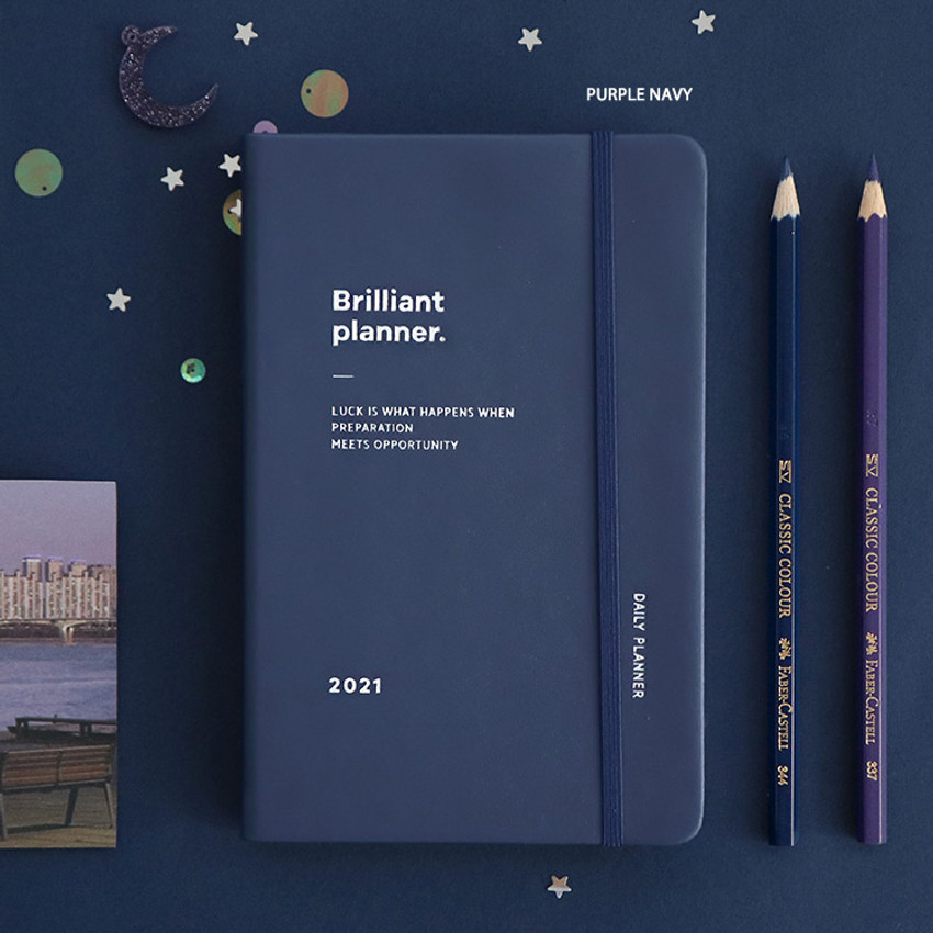 Purple Navy - ICONIC 2021 Brilliant dated daily diary planner