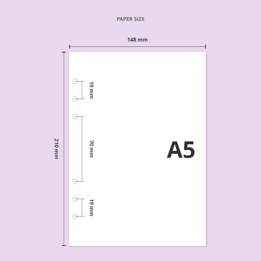 Paper size - Twinkle transparent A5 6 ring binder cover