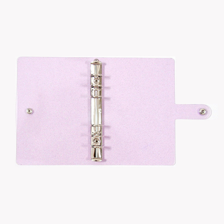 Detail of Twinkle transparent A5 6 ring binder cover