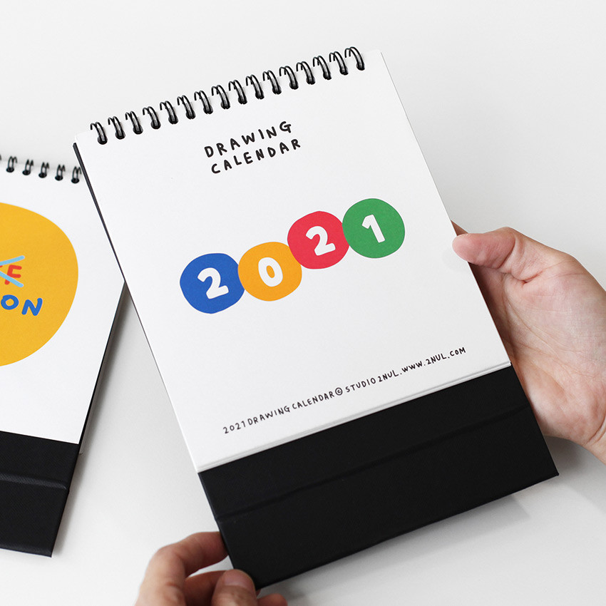 2NUL 2021 Drawing monthly desk calendar