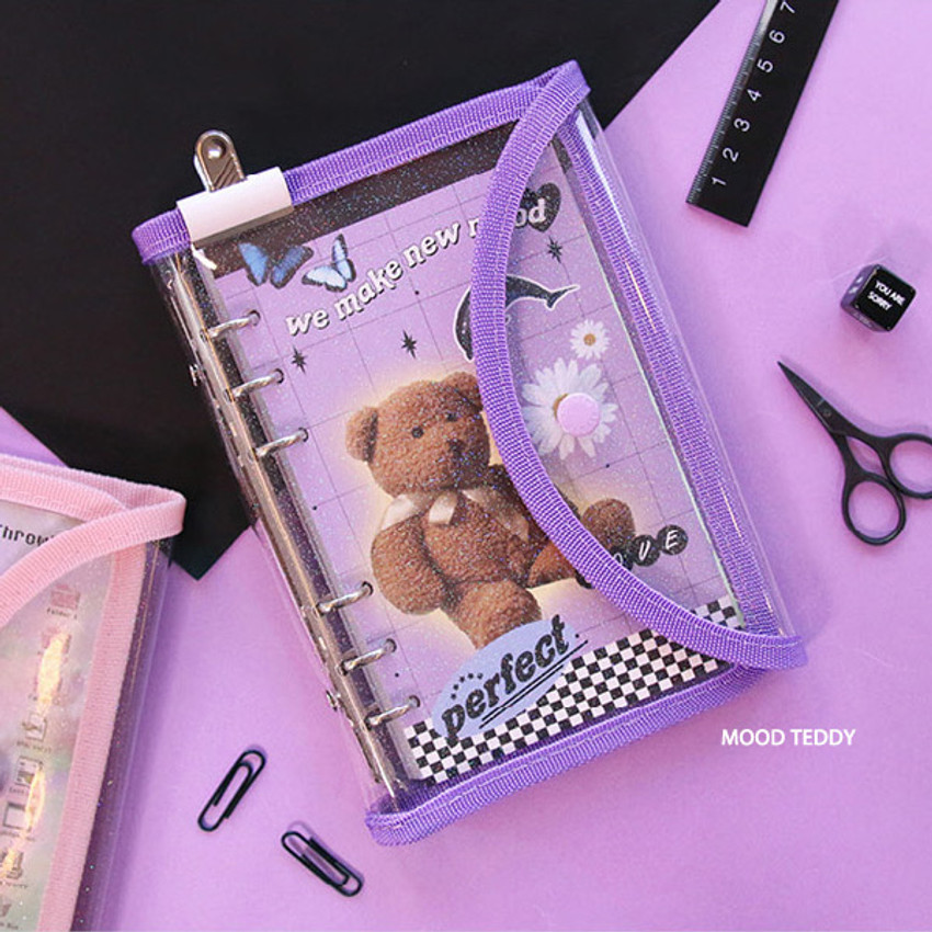 Mood Teddy - Second Mansion Love Beat A6 6-ring dateless weekly diary planner
