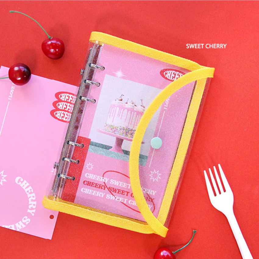 Sweet Cherry - Second Mansion Love Beat A6 6-ring dateless weekly diary planner