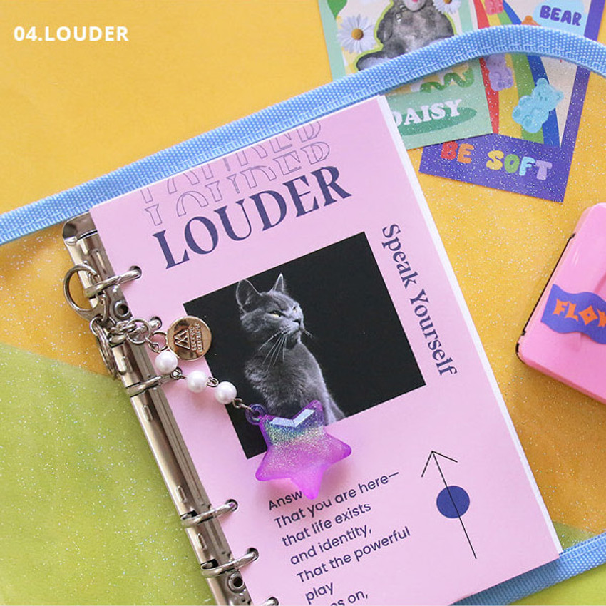 Louder - Second Mansion Love Beat A6 6-ring dateless weekly diary planner