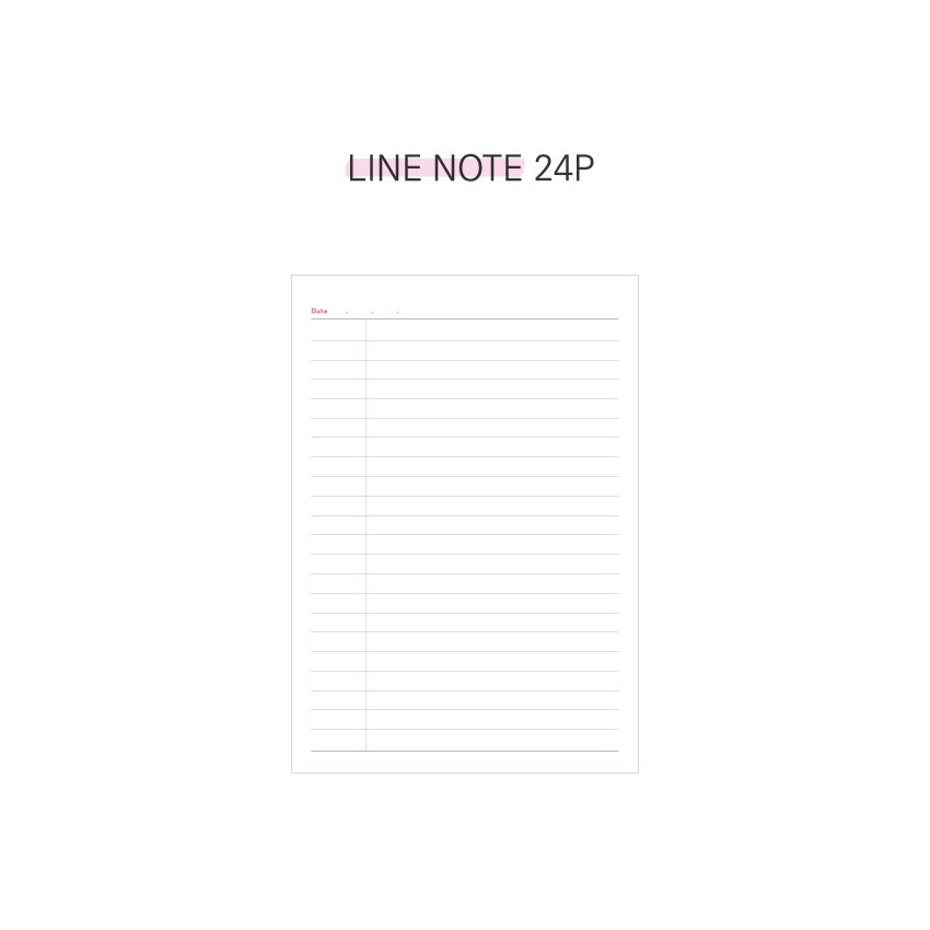 Lined note - Second Mansion Cool kids dateless weekly diary planner