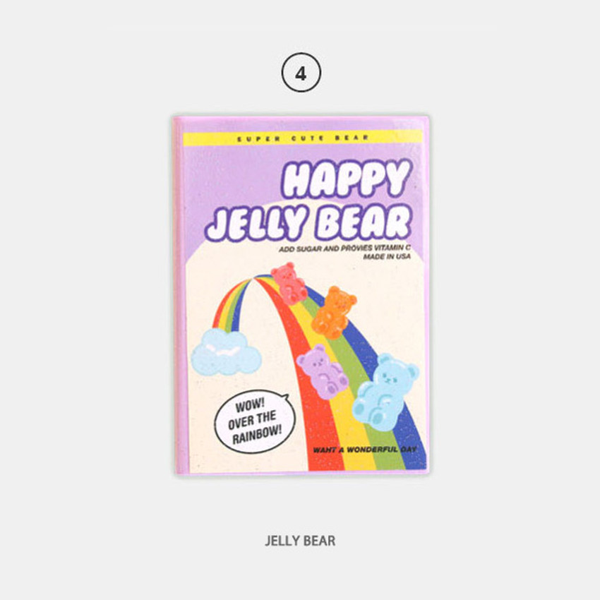 Jelly Bear - Second Mansion Cool kids dateless weekly diary planner