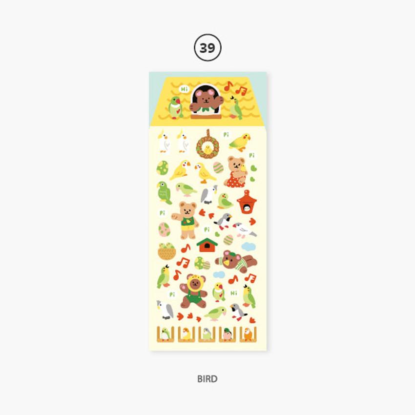 Bird - Second Mansion Juicy bear removable sticker seal 34-39