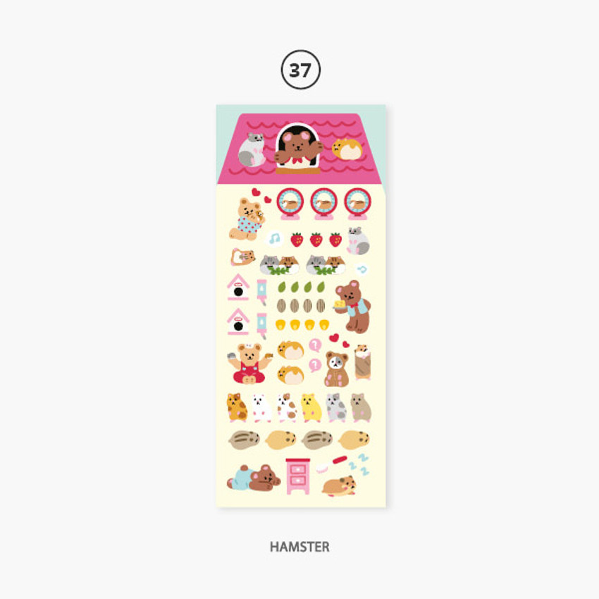 Hamster - Second Mansion Juicy bear removable sticker seal 34-39