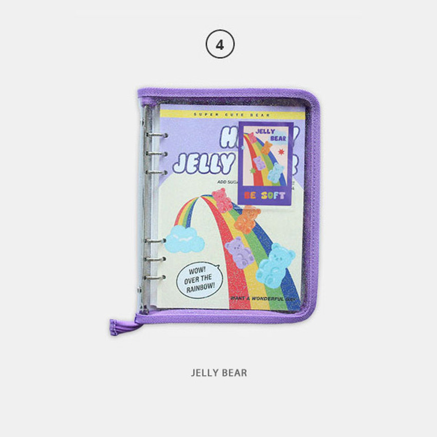 Jelly bear - Cool kids zipper A5 6-ring dateless weekly diary planner