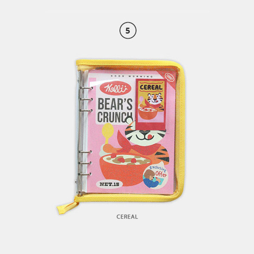 Cereal - Cool kids zipper A5 6-ring dateless weekly diary planner
