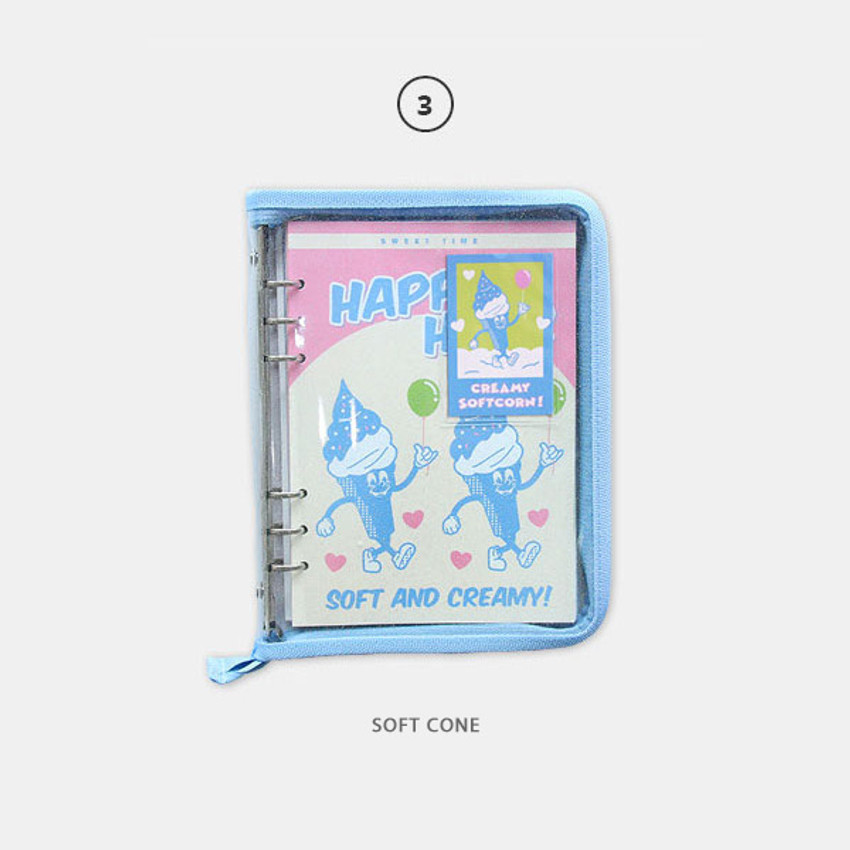 Soft cone - Cool kids zipper A5 6-ring dateless weekly diary planner