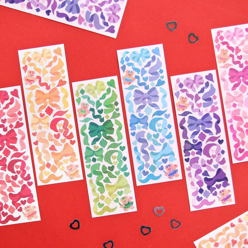 Hologram confetti removable sticker seal 01-06