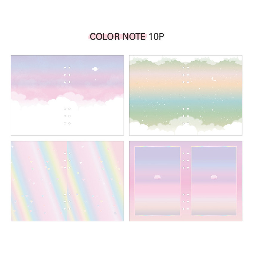 Color note - Second Mansion Moment A5 6-ring undated weekly diary planner