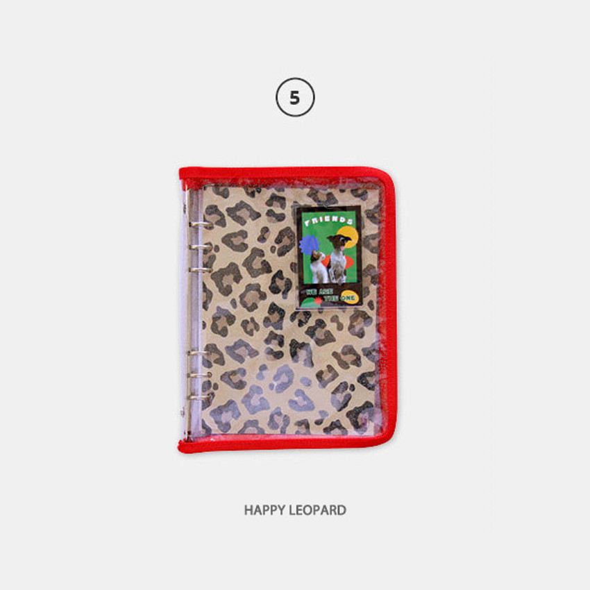Happy Leopard - Second Mansion Highteen A5 6-ring dateless weekly diary