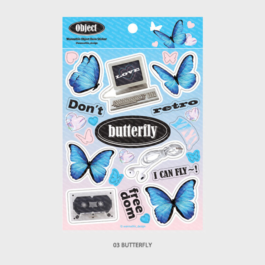 03 Butterfly - Wanna This Object removable deco sticker