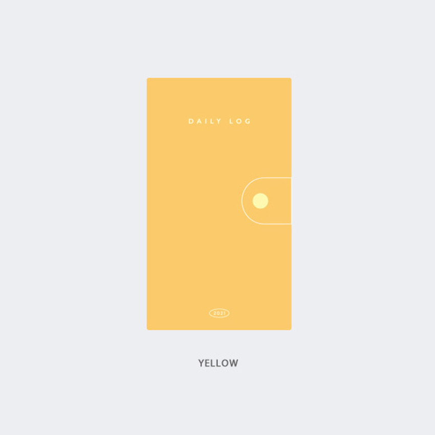 Yellow - GMZ 2021 Daily log button dated weekly diary planner