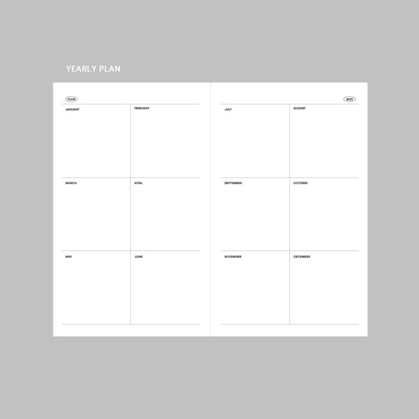 Yearly plan - GMZ 2021 Daily log button dated weekly diary planner