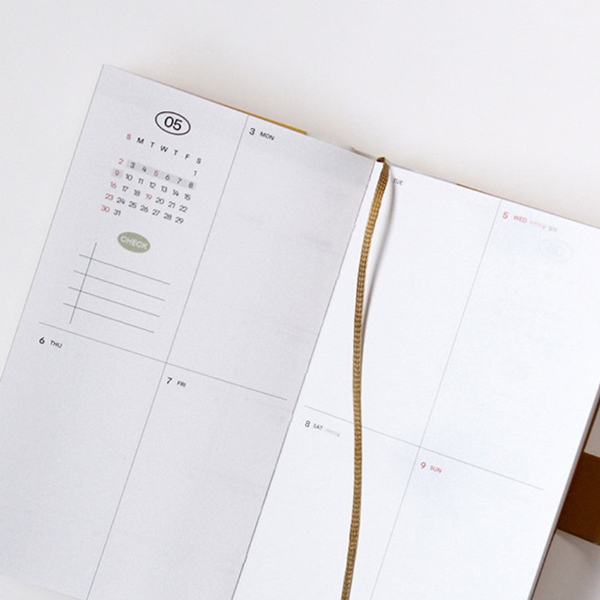 Ribbon bookmark - GMZ 2021 Daily log button dated weekly diary planner