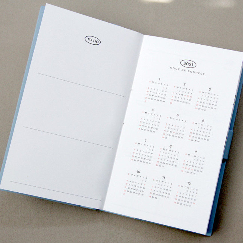 Calendar - GMZ 2021 Daily log button dated weekly diary planner