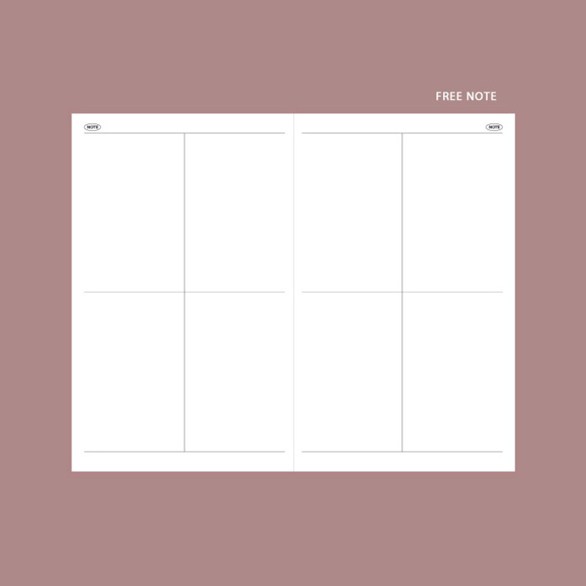 Free note - GMZ 2021 Daily log medium dated weekly diary planner