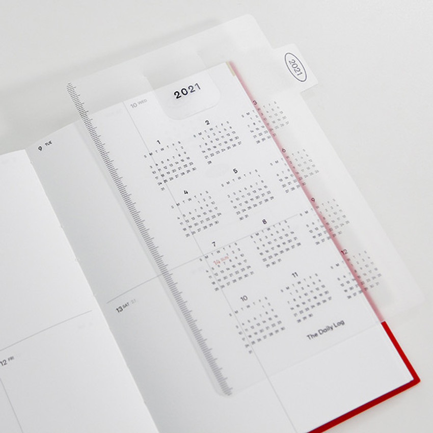 Comes with a bookmark - GMZ 2021 Daily log medium dated weekly diary planner