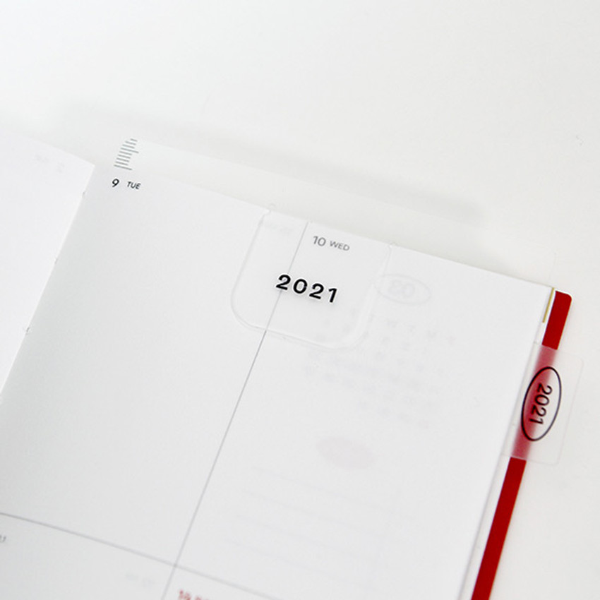 Usage example the bookmark - GMZ 2021 Daily log medium dated weekly diary planner