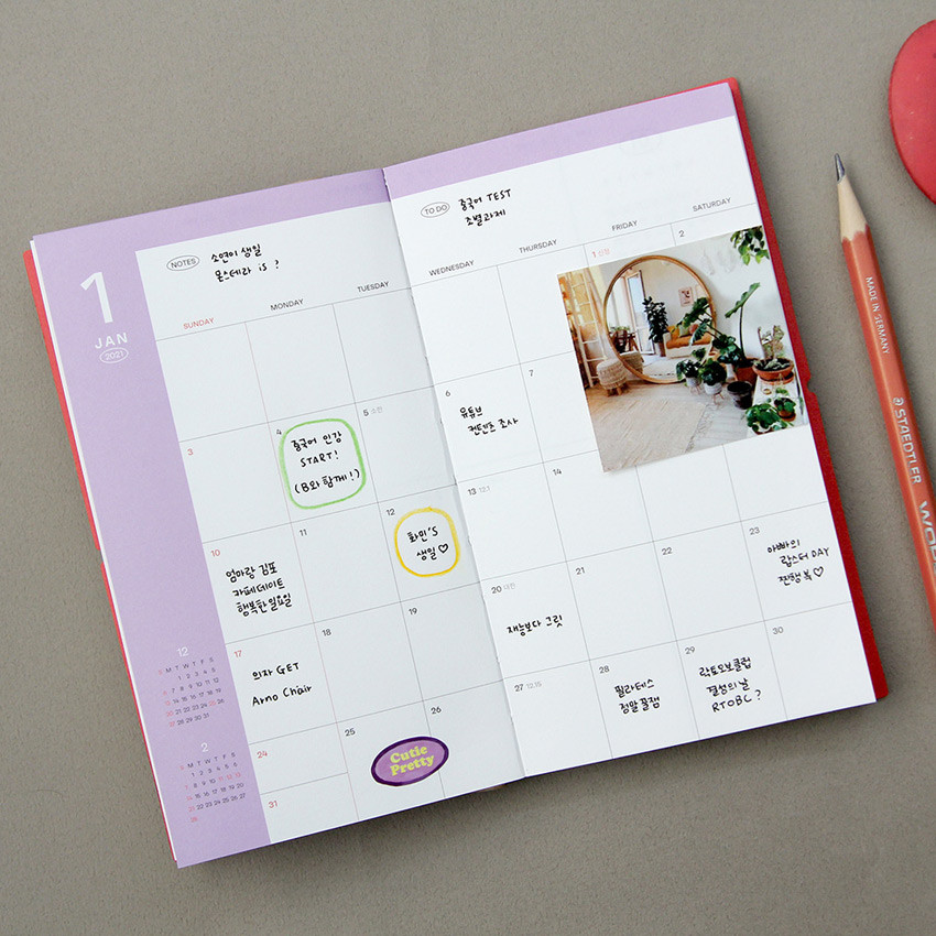 Monthly plan - GMZ 2021 Daily log medium dated weekly diary planner