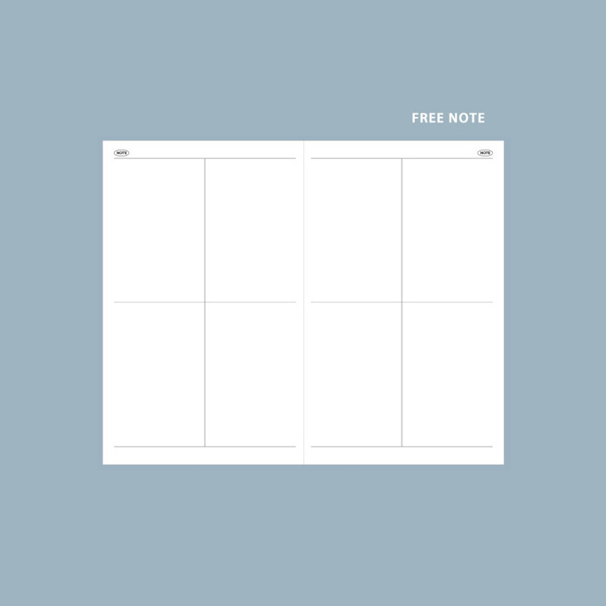 Free note - GMZ 2021 Daily log small dated weekly diary planner