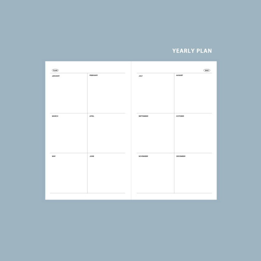 Yearly plan - GMZ 2021 Daily log small dated weekly diary planner