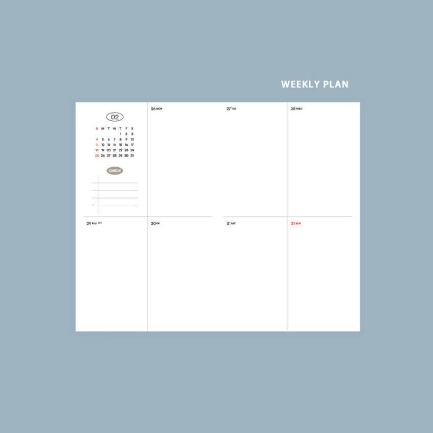 Weekly plan - GMZ 2021 Daily log small dated weekly diary planner