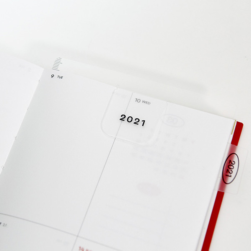 Comes with a bookmark - GMZ 2021 Daily log small dated weekly diary planner