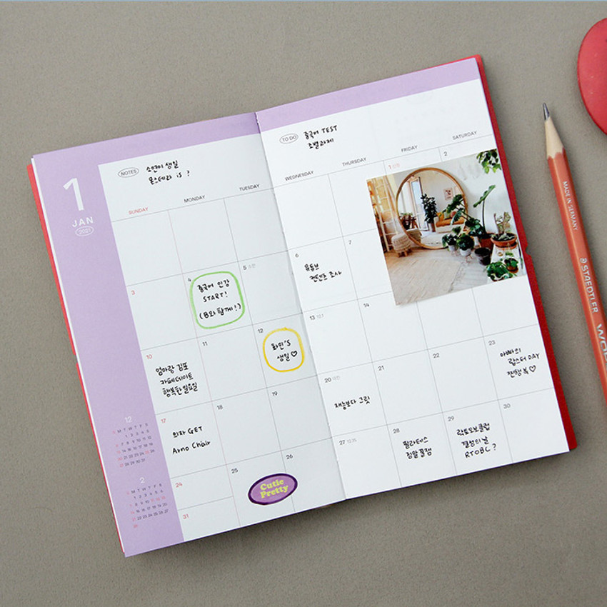 Monthly plan - GMZ 2021 Daily log small dated weekly diary planner