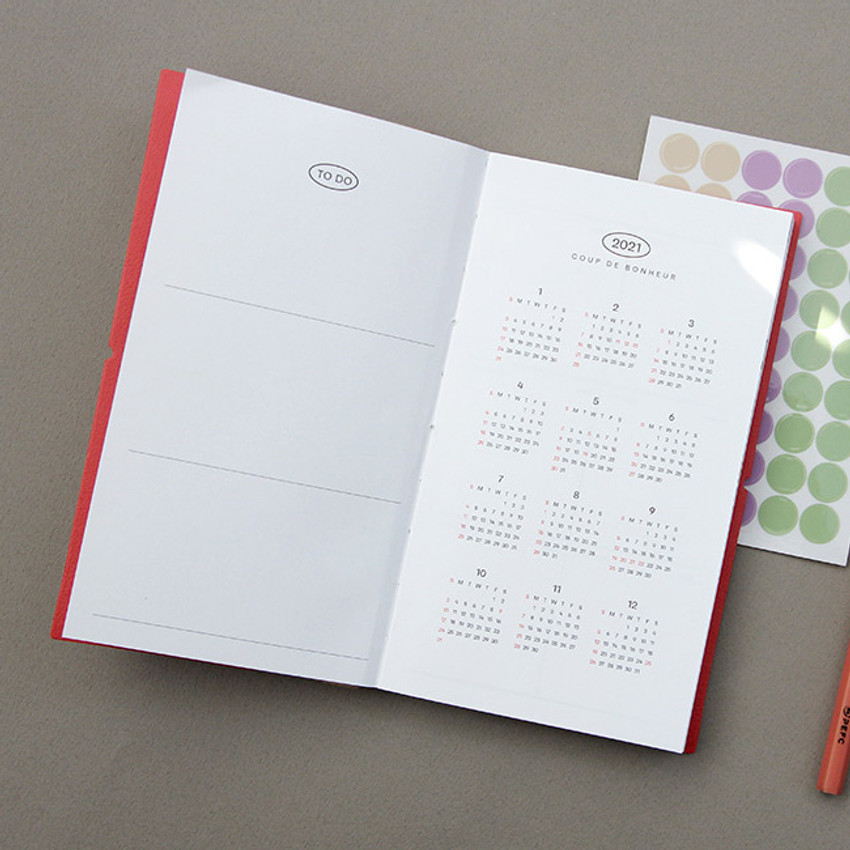 Calendar - GMZ 2021 Daily log small dated weekly diary planner