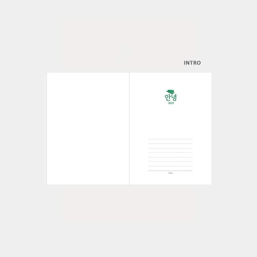 Intro - 3AL Hello 2021 small dated weekly diary planner