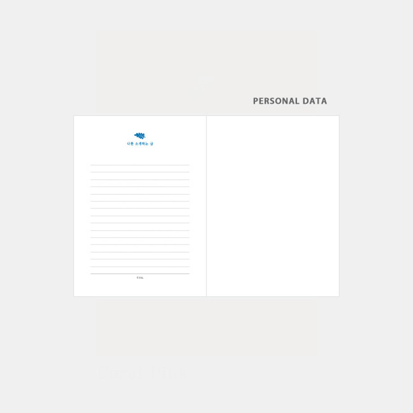 Personal data - 3AL Hello 2021 small dated weekly diary planner