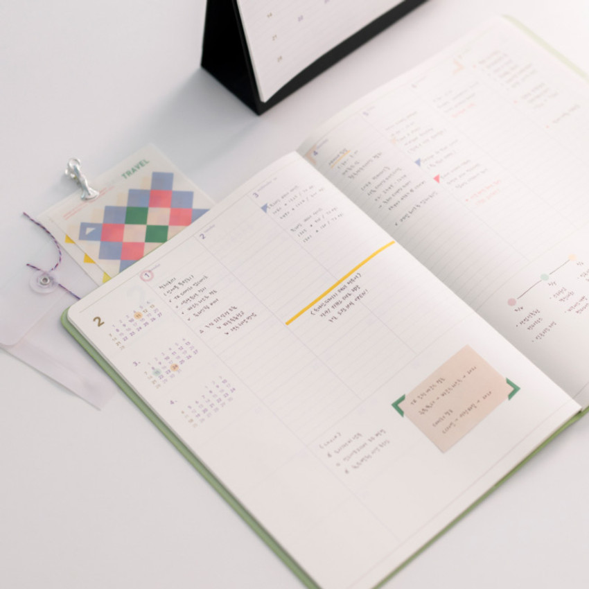 Weekly plan - 2021 Notable memory A4 dated weekly planner