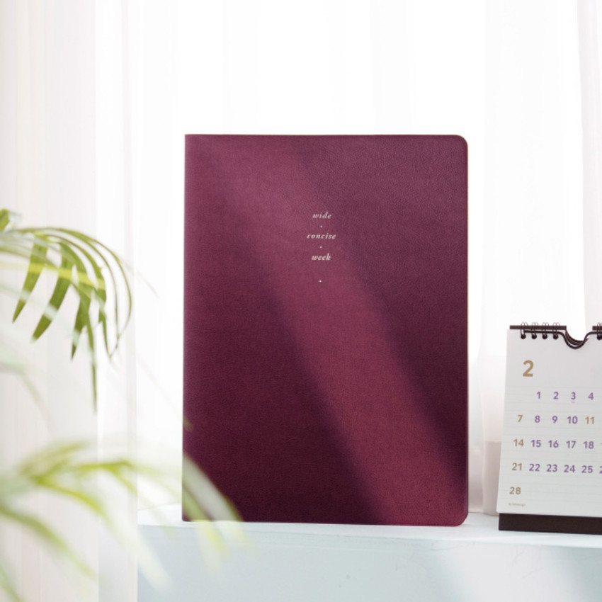 Red wine - 2021 Notable memory A4 dated weekly planner