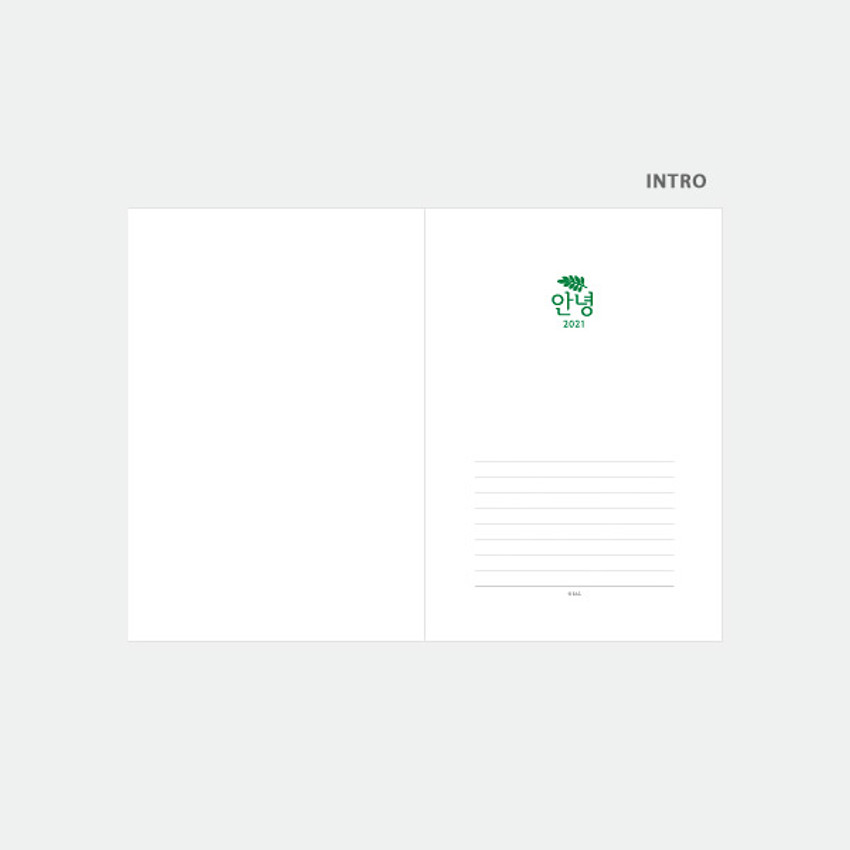 Intro - 3AL Hello 2021 dated weekly diary planner