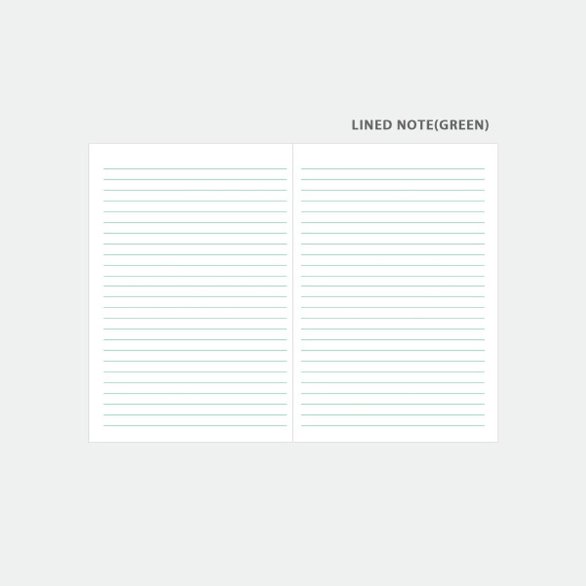Lined note - 3AL Hello 2021 dated weekly diary planner