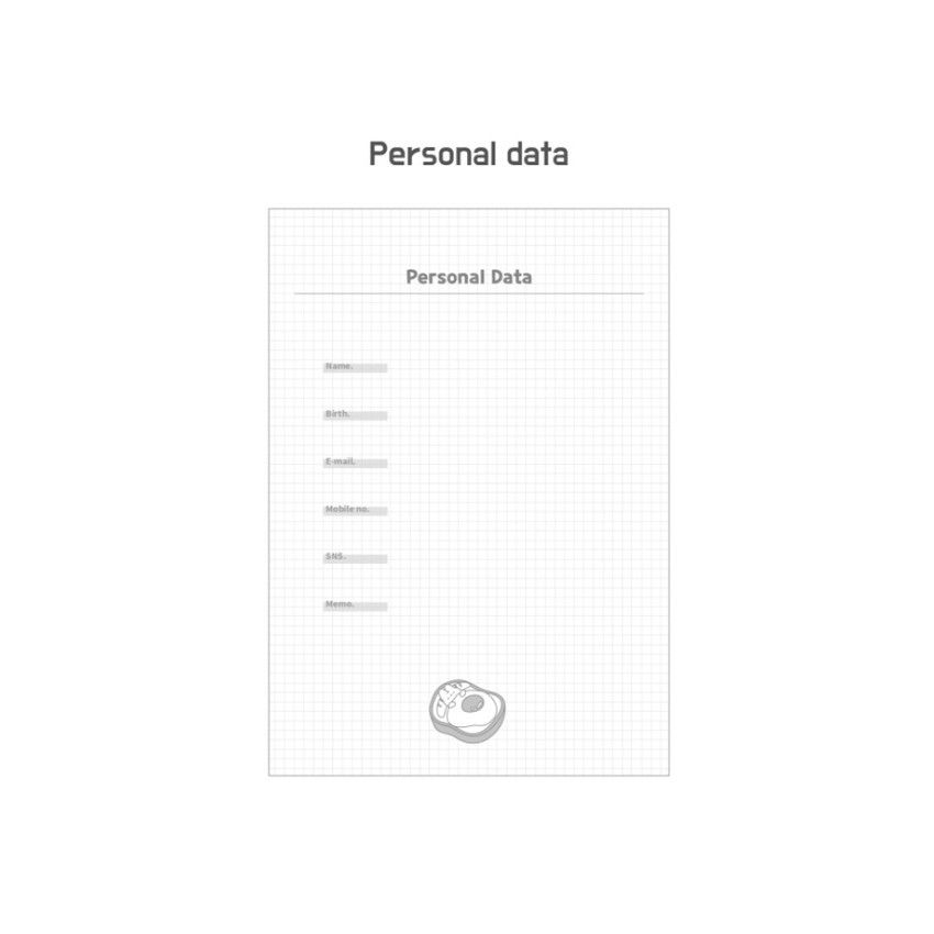 Personal data - DESIGN GOMGOM Leeli hardcover 6-ring dateless weekly diary