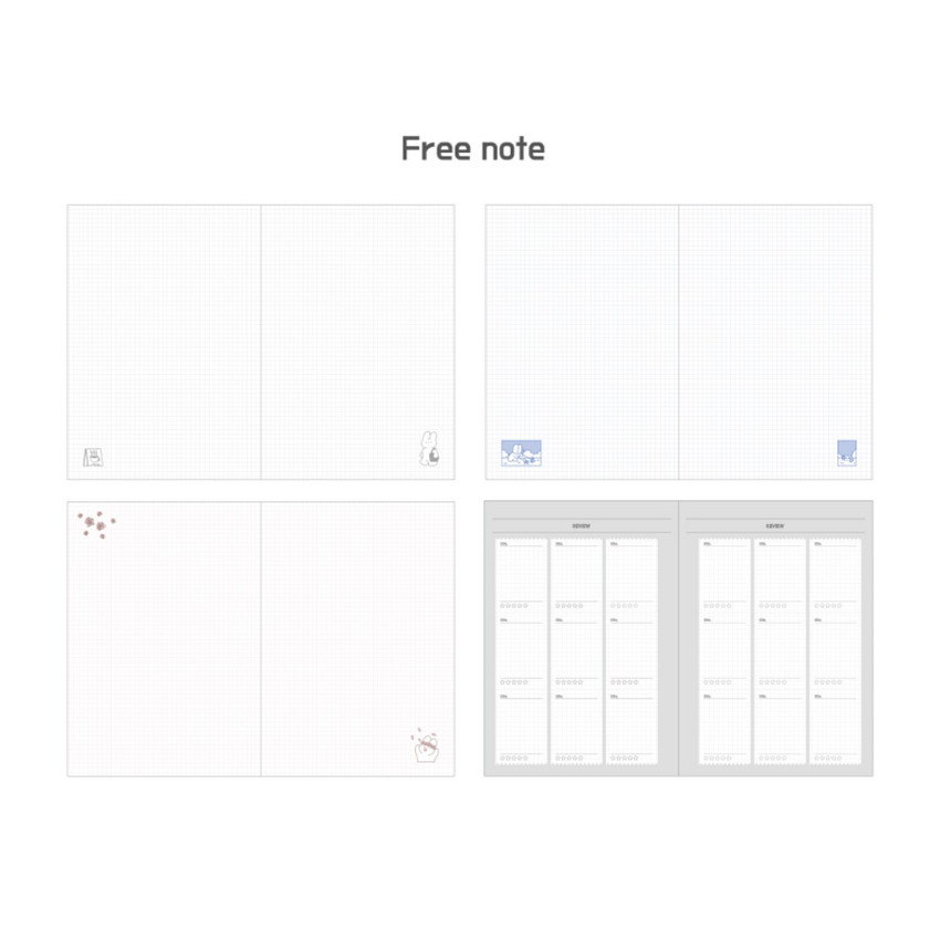 Free note - DESIGN GOMGOM Leeli hardcover 6-ring dateless weekly diary