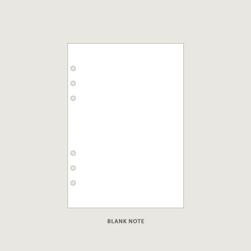Blank - After The Rain On the table 6-ring dateless monthly diary