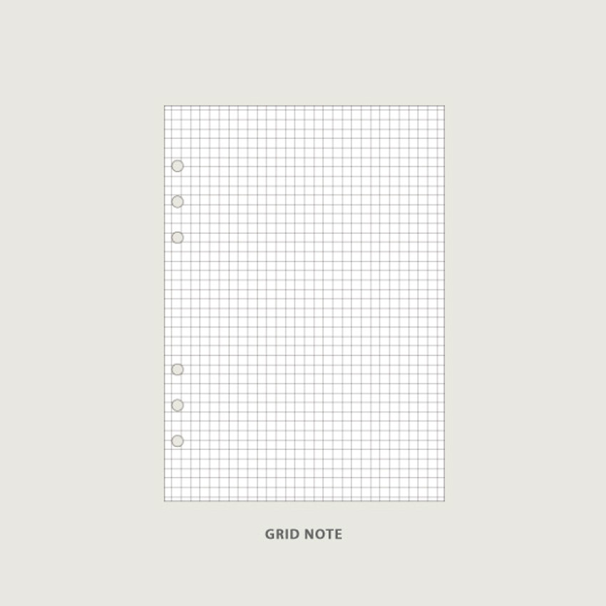 Grid note - Record - After The Rain On the table 6-ring dateless monthly diary