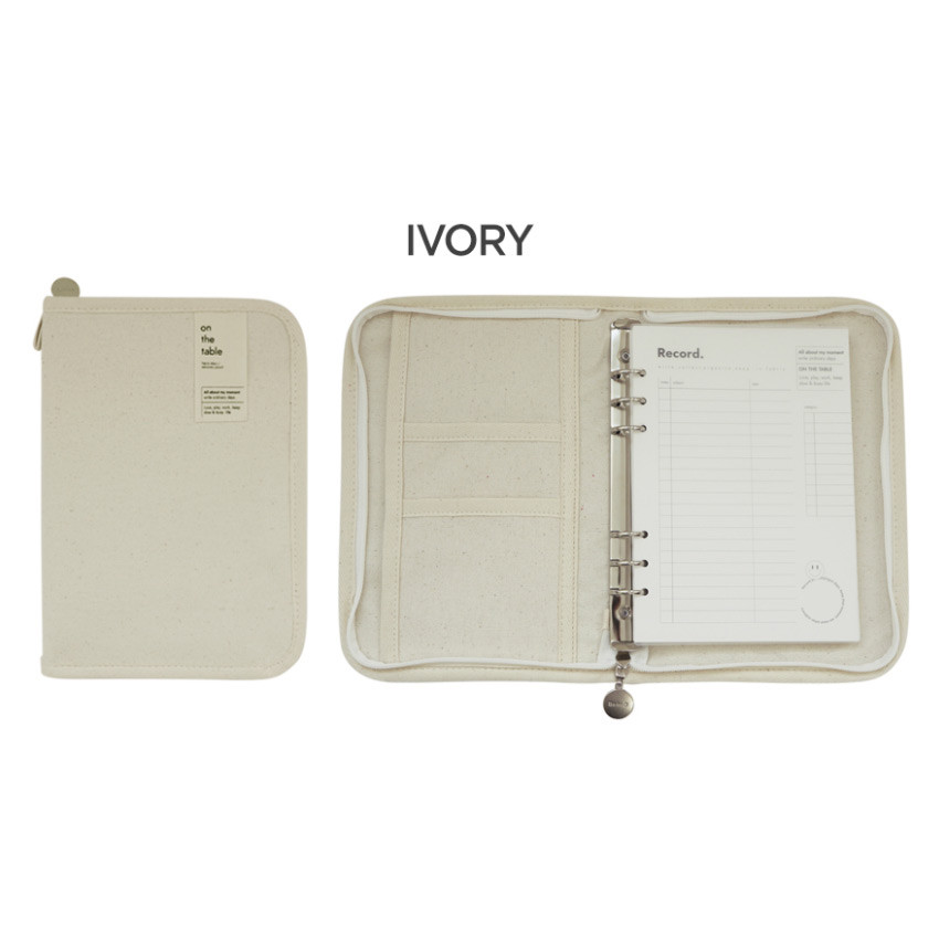 Ivory - After The Rain On the table 6-ring dateless monthly diary