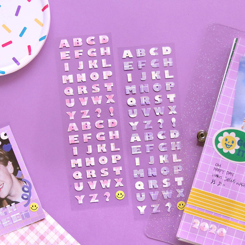 Second Mansion Hightteen Alphabet removable sticker seal