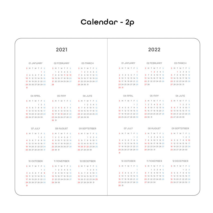 Calendar - 2021 Black hardcover dated weekly planner