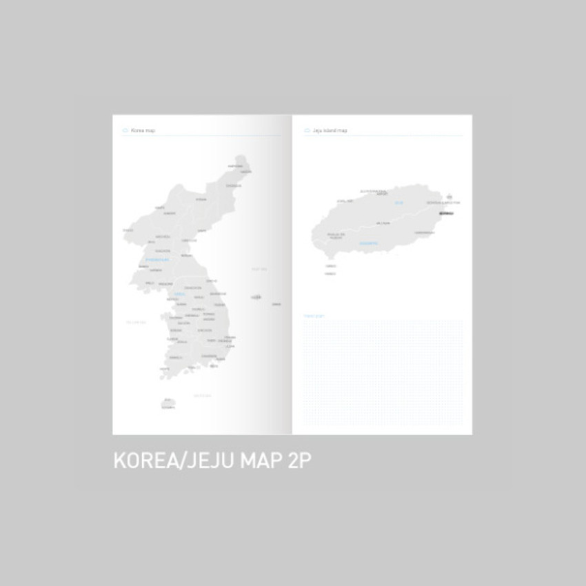 Korea / Jeju map - After The Rain 2021 Cloud story dated weekly diary planner
