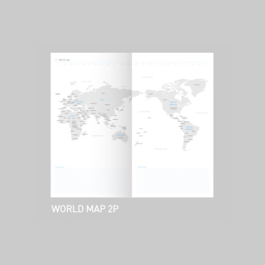 World map - After The Rain 2021 Cloud story dated weekly diary planner