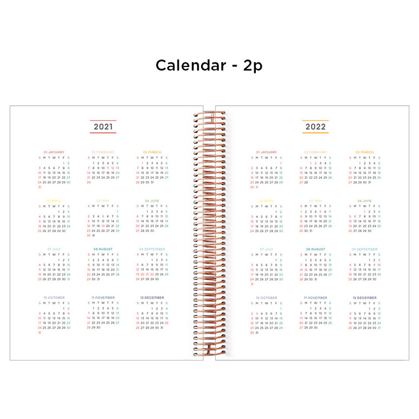 Calendar - 2021 Wire Quote PU hardcover dated weekly planner